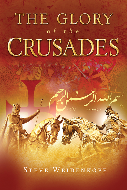 "How can the Crusades be called ""glorious""?  Our modern mindset says they were ugly wars of greed and religious intolerance—a big reason why Christians and Muslims today can't coexist peacefully.  Historian Steve Weidenkopf challenges this received narrative with The Glory of the Crusades.  Drawing on the latest and most authentic medieval scholarship, he presents a compelling case for understanding the Crusades as they were when they happened: ""armed pilgrimages"" driven by a holy zeal to recover conquered Christian lands. Without whitewashing their failures and even crimes, he debunks the numerous myths about the Crusades that our secular culture uses as clubs to attack the Church. In place of these myths he offers men and women of faith and valor who pledged their lives for the honor of Christ's holy places.  With a storyteller's gift, Weidenkopf relates the Crusades' many dramas—their heroes and villains, battles and sieges, intrigues and coincidences—offering a vivid and engrossing account of events that, though centuries old, have profoundly affected the course of our world to the present day."