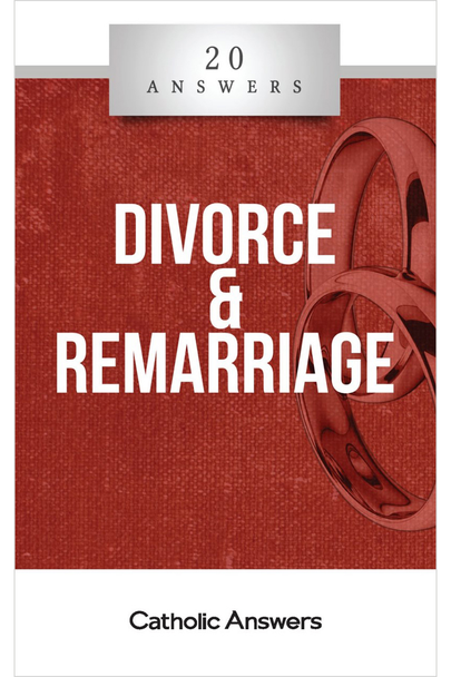 What God Had Joined  What is the meaning of marriage?  What conditions can make a marriage invalid?  Is a divorced Catholic allowed to receive Holy Communion?  Why is it necessary to go through the annulment process before I can be remarried?  In 20 Answers: Divorce & Remarriage you'll find smart, solid answers to these questions and many more.  The sacrament of marriage is one of the holiest things instituted by Christ—a lifelong sign of the love between the Church and himself. But although marriage is by its nature a faithful and permanent union, because of human sin it sometimes fails to live up to that sign. 20 Answers: Divorce & Remarriage explains Church teaching on the indissolubility of marriage, and examines the pastoral and canonical realities for Catholics who wish to end their common life and marry another.  The 20 Answers series from Catholic Answers offers hard facts, compelling arguments, and clear explanations of the most important topics facing the Church and the world—all in a compact, easy-to-read package.