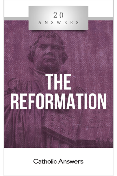"""The Rupture of Christendom  Who and what were the major figures and ideas of the Protestant Reformation?  Is it true that the medieval Catholic Church was so corrupt that a total religious revolution was necessary?  How did the Church respond to the Reformation, and what were its lasting effects on Christianity and world history?  Five hundred years after Martin Luther, what can Catholics do to bridge the divide with Protestants and restore Christian unity?  When Martin Luther presented his Ninety-Five Theses in 1517, no one could have foreseen the impact of the revolution he and his fellow """"Reformers"""" would unleash.  20 Answers: The Reformation is a perfect introduction to the major players, concepts, and events of this defining period in Western history. Only by understanding it can we work to counter its ill effects in the world today—and to fulfill Jesus' prayer that we may all be one.  The 20 Answers series from Catholic Answers offers hard facts, compelling arguments, and clear explanations of the most important topics facing the Church and the world—all in a compact, easy-to-read package."""