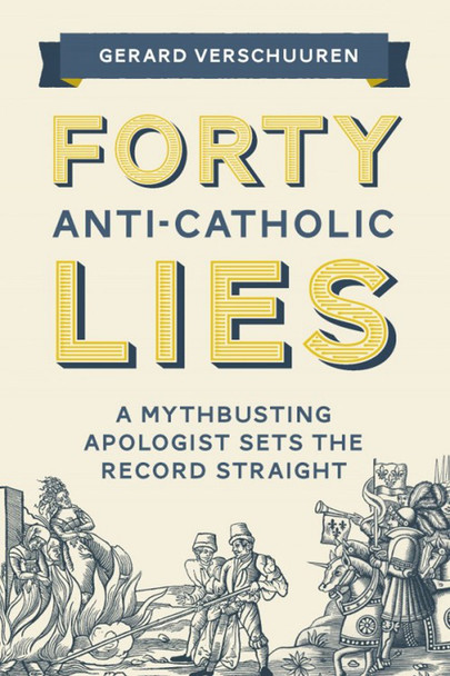 """Tired of being stumped when false claims are made about the Catholic Church? Want to be armed with knowledge that puts these mistruths to rest?  In these pages, veteran apologist Gerard Verschuuren provides thorough yet concise answers to forty of the most common — and absurd — lies about the Catholic Church.   With precision and charity, you'll soon be able to defend the Church when you're told that Catholics . . .      Still live in the Dark Ages     Reject modern ideas of justice     Oppress women     Oppose free speech     Killed thousands during the Inquisition     Take orders from the pope     Reject science     Worship statues and the Virgin Mary     Added books to the Bible     Invented purgatory     Wrongly call priests """"father""""     Celebrate pagan holidays     Helped Hitler seize power     And so much more!  Relying on historical works and official Church documents, Vershuuren authoritatively proves that these and many other claims are simply caricatures or outright misrepresentations of the real beliefs of Catholics.  Read this book and you'll be armed with the knowledge and confidence you need to defend the Catholic Church from those who wrongly disparage her teachings. Better yet, you'll be equipped to proclaim the soul-saving truth of our Faith."""