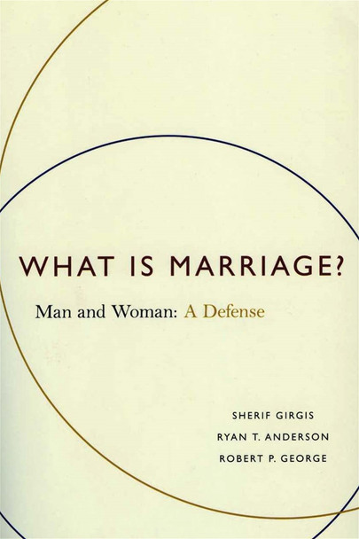 Until today, no society had seen marriage as anything other than a conjugal partnership: a male-female union.  What Is Marriage? identifies and defends the reasons for this historic consensus and shows why redefining civil marriage is unnecessary, unreasonable, and contrary to the common good.  This book's core argument has already been cited and debated by scholars and activists throughout the world as the most formidable defense of the tradition ever written. It stands poised to meet its moment as few books of this generation have.  Rhodes Scholar Sherif Girgis, Heritage Foundation Fellow Ryan Anderson, and Princeton Professor Robert George offer a devastating critique of the idea that equality requires redefining marriage. They show why both sides must first answer the question of what marriage really is. They defend the principle that marriage, as a comprehensive union of mind and body ordered to family life, unites a man and a woman as husband and wife, and they document the social value of applying this principle in law.  Most compellingly, they show that those who embrace same-sex civil marriage leave no firm ground-none-for not recognizing every relationship describable in polite English, including polyamorous sexual unions, and that enshrining their view would further erode the norms of marriage, and hence the common good.