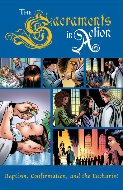 Join in the adventures of young Catholics Hannah and Andy as they learn that a good life requires a solid faith and that God has given us the sacraments to guide and sustain us along the way.  This graphic novel's vivid images and engaging stories will captivate you even as you learn along the way, and without effort, about Baptism, Confirmation, and Holy Communion. Activities at the end of each story will help fix in your mind and heart the meanings of these three powerful sacraments.  Along with Hannah and Andy, you'll learn:      How Baptism frees us from sin.     Why babies wear white baptismal gowns.     The vital role of godparents.     Why water, chrism, and candles are used during a Baptism.     How Confirmation prepares us to share our faith with others.     What the Holy Spirit has to do with Confirmation.     How Confirmation helps us to serve God with our actions.     Why we have Confirmation sponsors.     Why we receive the Eucharist at Mass.     How we are empowered by Christ in the Eucharist.     How the bread and wine are transformed into Christ's Body and Blood at Mass.     What it means to be a part of the Body of Christ.     How good friendships help us grow in love of God.     And much more to ignite your faith and bring it vividly to life!