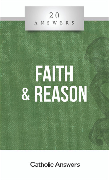 Reconciling All Truth  Is faith reasonable?  What can we know about God through reason alone?  How can we make sense of Christian beliefs that seem to defy logic and science?  What can I say to people who claim that the God of the Bible is cruel and irrational?  We believe that God is one, and so is his truth. The mysteries he has revealed to the world, the teachings that his Church professes and safeguards, and the conclusions that we reach by the light of natural reason all harmonize and enrich each other. But in a world skeptical of faith and often too clouded by sentiment and sin to wield reason, it can seem that religious truth and rational truth must be enemies—or at least from different worlds. 20 Answers: Faith and Reason shows you how to restore the unity of truth that is our only basis for living a coherent life of the mind and of the soul, helping you tackle both secular skeptics and your own nagging doubts.  The 20 Answers series from Catholic Answers offers hard facts, compelling arguments, and clear explanations of the most important topics facing the Church and the world—all in a compact, easy-to-read package.