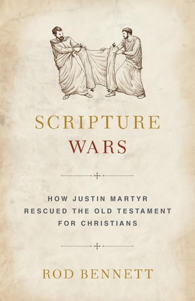 """About a century after Jesus died, a battle began for the Old Testament. Large numbers of faithful Christians fought about its contents and even about its right to be called a Christian book!  On one side, many Jewish converts charged Paul and most of the other Apostles with a """"Great Apostasy,"""" a pulling away from the deep roots of their Jewish tradition. This, they argued, endangered the souls of believers everywhere. They sought to retain intact the strict practices and teachings of the Old Testament and to integrate more of them into the still new and developing Christian Faith.  On the other side, Marcionite Christians held such antipathy toward the Old Testament that they advocated leaving it behind entirely. They even sought to purge from the New Testament practices and notions they judged too friendly to Jewish ideas.  The outcome of this conflict would affect nearly every aspect of the new Christian Faith — and the daily lives of believers everywhere, for centuries to come.  Who won these crucial, climactic Scripture Wars?  God did, of course — but not without raising up a great saint whose keen mind and deep faith expelled from Christianity both false understandings of how the gentle, loving God of the New Testament relates to the often-stern God of the Old."""
