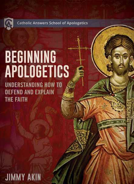 Beginning Apologetics  Online Course Description  Beginning Apologetics covers:      Methods of defending the Faith     The history of apologetics     The existence of God     The case for the Christian faith     Evidence for the Catholic Church     The reliability of the New Testament     Objections to the Church     The practical techniques you need to know  The course consists of more than forty individual video segments, each of which is around ten minutes long—meaning that you can study as much or as little as you have time for at the moment.  In the course, Jimmy distills the essential insights from his more than a quarter century of doing apologetics professionally.  We guarantee that even seasoned defenders of the Faith will learn things they didn't know before.  NOTE: A certificate of completion is only available with the online version.