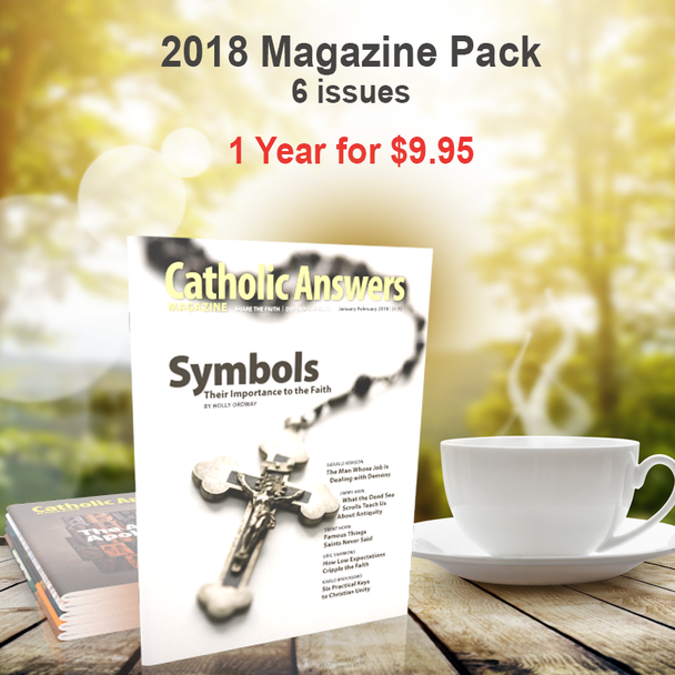 Every issue of our award-winning Catholic Answers Magazine for the year 2018 - In a digital format, and priced just right!  The award-winning Catholic Answers Magazine is always full of useful features and articles by the top names in Catholic Apologetics – Each issue will give you a whole new batch of top-drawer commentary, analysis and topical articles that you can use.