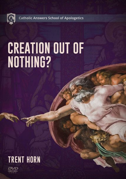 """Creation Out of Nothing Course Description  Is our world just an accident or did God create it from nothing? And is this just an article of Faith, or can we use reason and evidence to prove that God exists?  That's why the Catholic Answers School of Apologetics is offering Creation Out of Nothing as a resource to equip you to understand, explain, and defend the Church's teachings on this important doctrine.  In the sections on science you'll cover topics like:      Big Bang cosmology     Atheistic arguments against a First Cause     Evidence for design in """"fine-tuning""""     Multiverses and """"creation from nothing""""  In the sections on philosophy you'll cover topics like:      The nature of infinity     Philosophical arguments for a finite past     The nature of time     The case for a divine creator  In the section on theology you'll cover topics like:      Why creation from nothing is necessary for understanding God     Biblical evidence for creation from nothing     Answering competing Mormon doctrines of creation     The Church fathers on """"creation from nothing""""  The course contains more than 18 short, easy-to-watch video segments, so you can study at your own pace.  Creation Out of Nothing will give you the knowledge and confidence you need to defend your faith. Even seasoned defenders of the Faith will learn things they didn't know before.  ***This page is for ordering the Physical Course, which is expected Mid-August  - Pre-Order Your Copy Today! ***"""