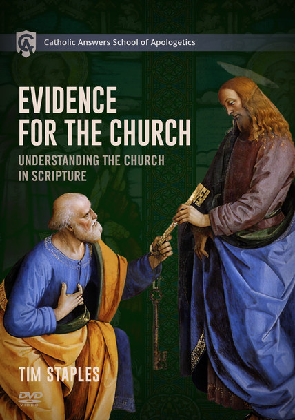 """In his Catholic Answers School of Apologetics course, Evidence for the Church, Catholic Answers Director of Apologetics and Evangelization Tim Staples shares hard-won insights into the apologetics of ecclesiology that will empower you to defend the Catholic Church to anyone.      He explores in depth the Church as """"the fullness of [Jesus Christ]"""" (Eph. 1:22-23) in the world as a foundation to understanding its divine authority.      He shows how the Church is visible, hierarchical, and authoritative—as opposed to the invisible, fallible church of Protestantism.      He reveals why Jesus chose not to """"name"""" his Church but rather gave it four unmistakable marks.      He explains the scriptural doctrine of apostolic succession, the foundational teaching of the Christian faith that has been lost to countless Protestant Christians.      He calls upon Eastern Catholicism's concept of theosis as a key to understanding many of the Church's most controversial claims.      Throughout, he makes what was once difficult to understand surprisingly easy.  This course comprises more than fifty short, easy-to-watch video segments so you can study at your own pace, revisit what you would like, and make sure you understand the material thoroughly.  Evidence for the Church will equip you to defend Holy Mother Church and to bring souls to Jesus Christ through the institution he established on Earth."""