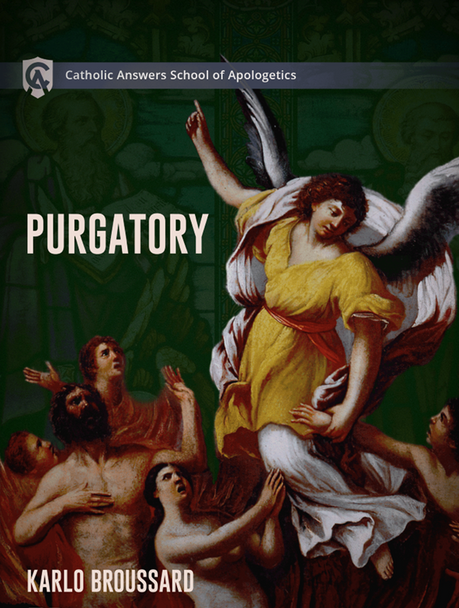 """To some, the Catholic doctrine of purgatory is mysterious—even scary. What is this shadowy state between earth and heaven? How can saved souls suffer if Jesus has already redeemed them? No wonder non-Christians imagine purgatory in sensationalistic ways and Protestants condemn it as an """"unbiblical tradition of men.""""  Drawing from his book Purgatory Is for Real: Good News About the Afterlife for Those Who Aren't Perfect Yet, Karlo Broussard helps you understand and explain to others that purgatory isn't contrary to Scripture, nor is it some fantastical dogma that Rome invented. Rather, it is rooted in biblical truth and the faith and practice of the earliest Christians. You'll learn that:      The Old Testament reveals Jewish belief in post-mortem remission of sins.     In Matthew's Gospel, Jesus affirms post-mortem temporary punishment and post-mortem remission of sins.     Paul teaches a post-mortem purification that involves suffering on account of venial sins.     Extra-biblical sources reveal that the first Christians prayed for the dead and believed in post-mortem purgation and punishments.   Karlo shows that purgatory is not a cause for dread but a hopeful, even joyful sign of God's love for us. It is a great consolation, a call for all Christians to pursue deeper holiness, and an opportunity to build loving solidarity with those who have gone before us.  Whether you're a Catholic wanting to know more about purgatory or you're looking for ways to explain the doctrine to others, Purgatory will provide you with a deeper appreciation of God's mercy and love manifest in his will to remove those things that impede our entrance into heaven."""