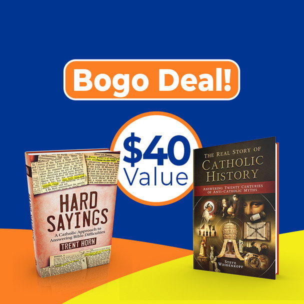 Catholic Answers Buy One Get One (BOGO) deal. Get best-selling The Real Story of Catholic History and Hard Sayings for one low price. Catholic Answers Shop   #1 Online Catholic Bookstore for Apologetics and more.