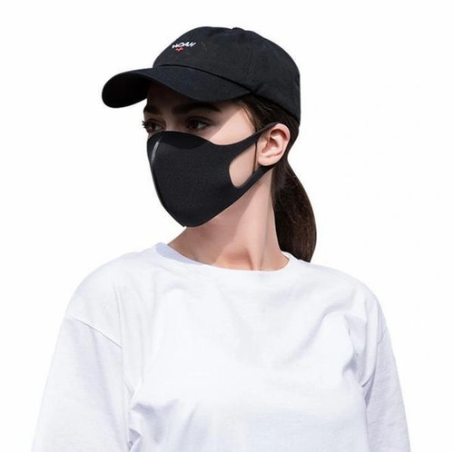 Black Cotton Anti-bacterial, Breathable Face Mask