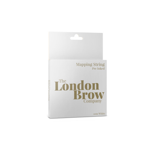 White mapping string for brow lamination, henna brows and microblading