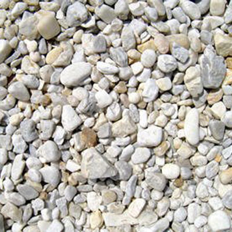 River Rock per Cubic yard (Brown and White) bags