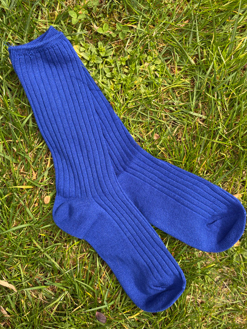 Blueberry Basic Ribbed Socks