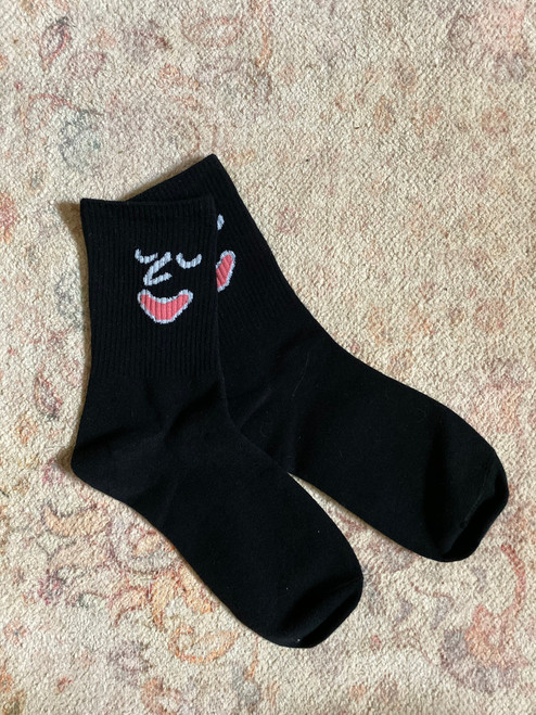 BLACK Emotional Socks