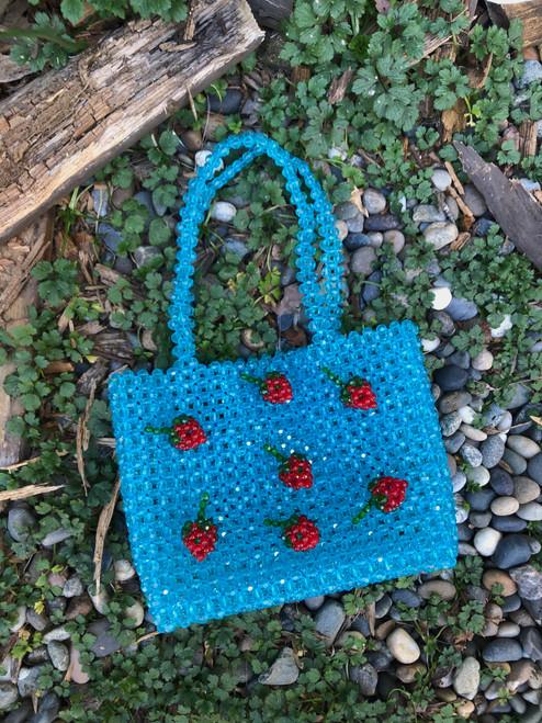 Strawberry Beaded Bag