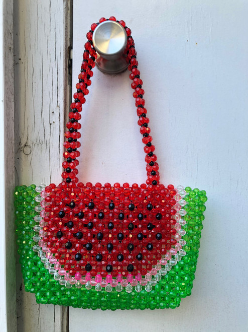 Watermelon Beaded Bag