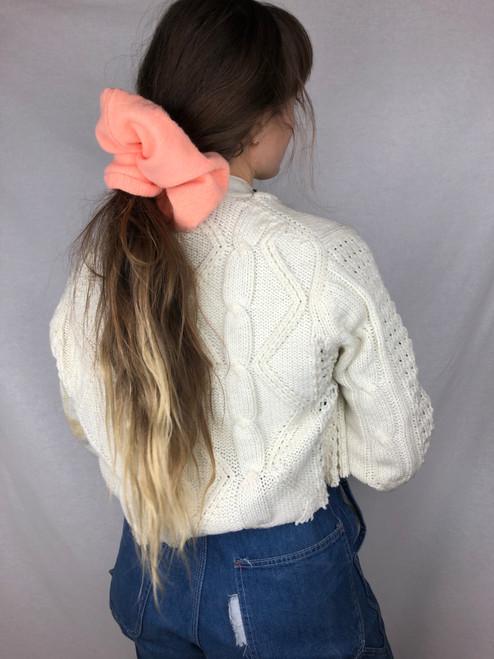 Peach Knit Scrunchie