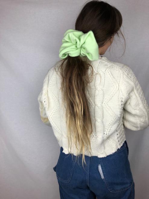 Kiwi Knit Scrunchie