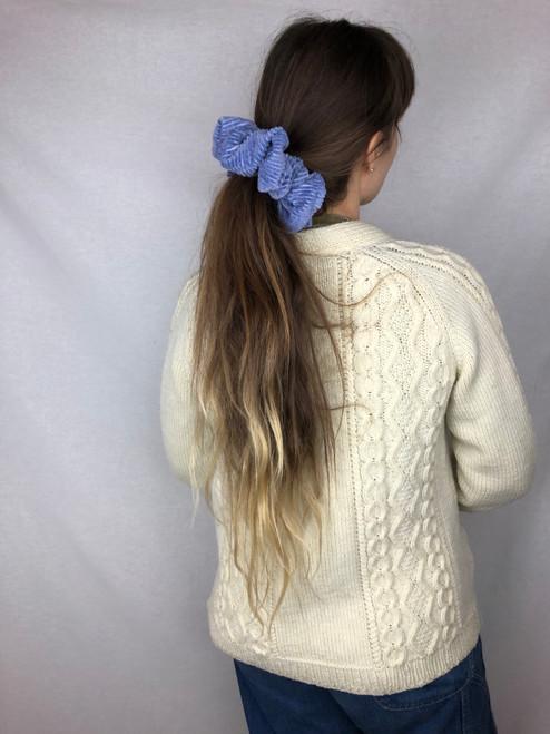 Lavender Corduroy Scrunchie (M)