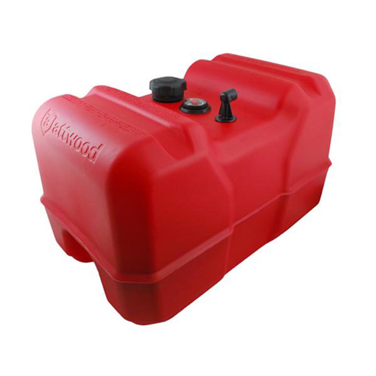 Portable Fuel Tank 3 Gallon Without Gauge 16.6 x 11.45 x 7.3 Attwood 8803LP2