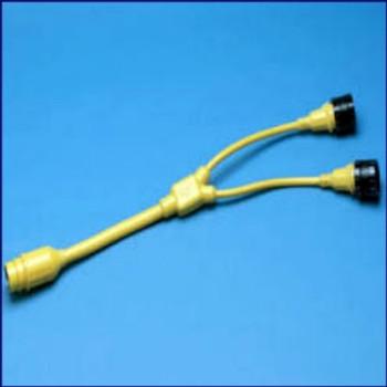 Marinco Y Adapter - 2-30A Locking to 50A 125-250V Locking