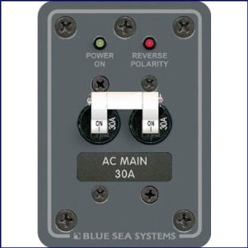 Blue Sea Systems 120V AC Main 30 Amp Circuit Breaker Panel  8077