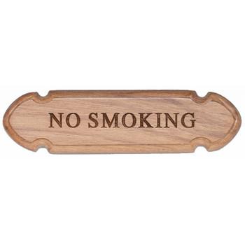 """Whitecap Teak """"No Smoking"""" Name Plate"""