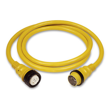 Marinco 50A 125/250V Power Cord Plus Cordset (4-Wire) 25' yellow in box  6152SPP-25