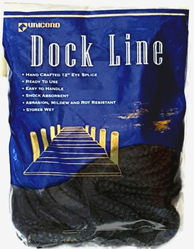 "Unicord Colored Double Braid Dock Line 1/2"" x 35'  402816 402823 402885 402878 402809"