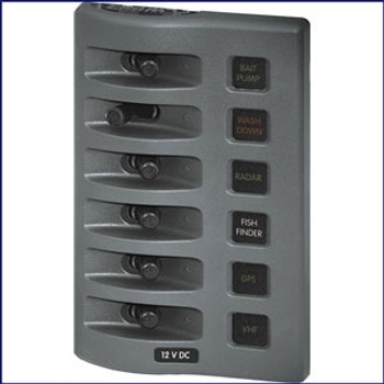 Blue Sea Systems WeatherDeck Water Resistant Fuse Panel 4304 4306 4308