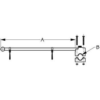 """Sea Dog 17"""" Adjustable Rail Mount Flagpole Stainless   327122-1"""
