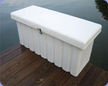 "RomoTech 51""x19""x23"" Medium Dock Box - White 82121289"
