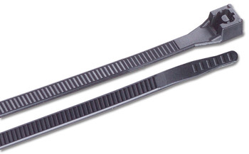Ancor UV Black 6 inch Nylon Standard Cable Ties 30lb - 25 pack