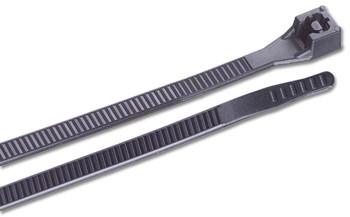 Ancor UV Black 6 inch Nylon Standard Cable Ties 30lb - 100 pack