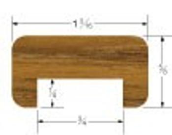 "Whitecap Teak 3/4"" Track Straight Length Bulkhead Molding"