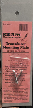 Rig Rite 920 Transducer Mounting Plate