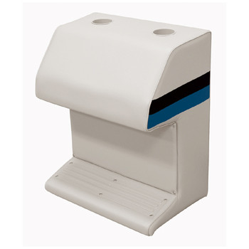 Wise Deluxe Pontoon Steering Console Captain's Stand  WD115 White/Navy/Blue