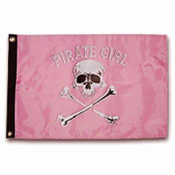 "Taylor Made 12"" x 18"" Pirate Head Nylon Flag - Pirate Girl  1801"