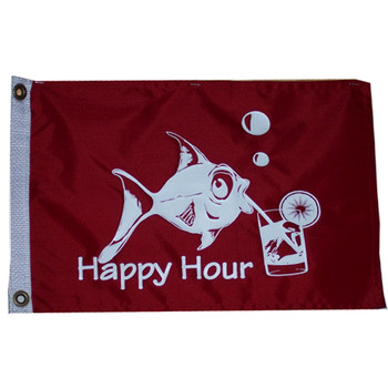 "Taylor Made 12"" x 18"" Flag - Happy Hour  5418"