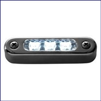 "Attwood 3"" LED Transom Light Oval Horizontal Mount 6343SS1"