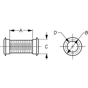 Sea Dog HDPE Motorwell Drain Tube  520320-1