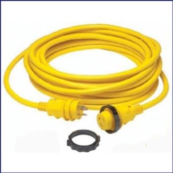 Marinco 199119 30 Amp Cordset LED Ergo Grip - 50ft - Yellow