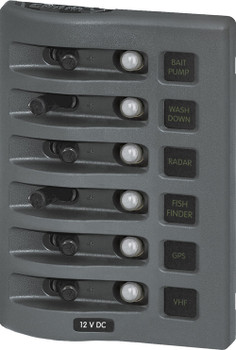 Blue Sea Systems Weather Deck Panel Gray Breaker 4376 4378