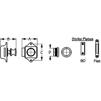 Sea Dog Stainless Steel Push Button Latch  225300-1