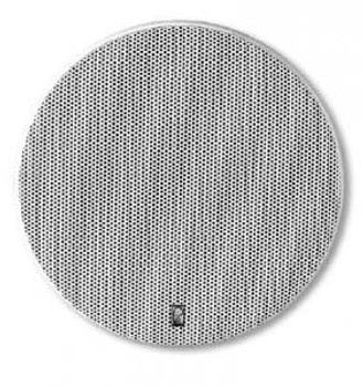 "Poly-Planar MA6500 Platinum 5-1/2"" Two Way Round High Power Speakers White"