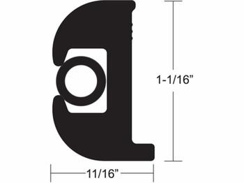 Taco Marine V11-0809 Rub Rail Kit 50 ft. (1 1/16 in.) Black & White