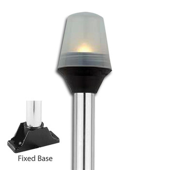 Attwood Fixed Base All-Round Pole Lights - Anti-Glare 5352-08-7