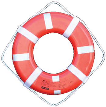 """Jim Buoy Life Ring - 24"""" With Reflective Tape  GO-24T"""