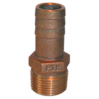 "Groco Bronze Fitting 1/2"" NPT to 1/2"" or 5/8"" Straight Hose Fitting"